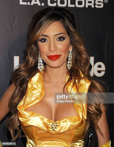 TV personality Farrah Abraham arrives at Life Style Weekly's 'Eye Candy' Halloween Bash Hosted By LeAnn Rimes at Riviera 31 at Sofitel on October 29...