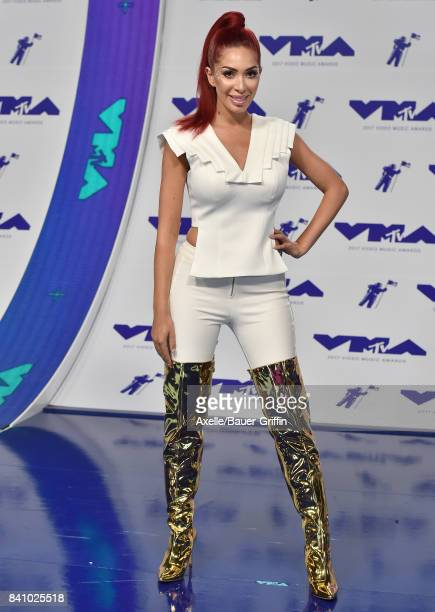 TV personality Farrah Abraham arrives at the 2017 MTV Video Music Awards at The Forum on August 27 2017 in Inglewood California
