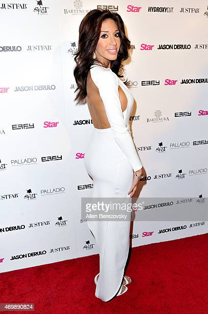 TV personality Farrah Abraham attends Star Magazine's Hollywood Rocks Event with Jason Derulo at The Argyle on April 15 2015 in Hollywood California