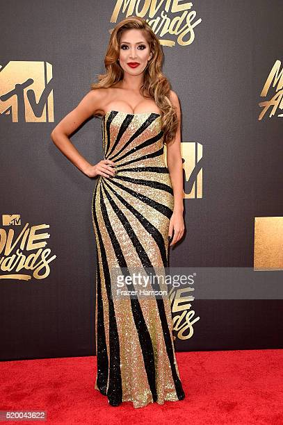 TV personality Farrah Abraham attends the 2016 MTV Movie Awards at Warner Bros Studios on April 9 2016 in Burbank California MTV Movie Awards airs...