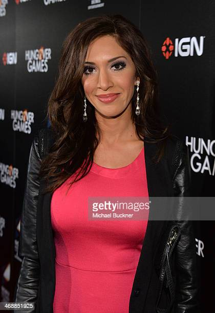 TV personality Farrah Abraham attends the The Hungover Games cast crew screening at TCL Chinese 6 Theatres on February 11 2014 in Hollywood California
