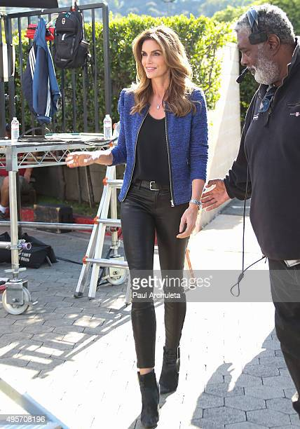 Personality / Fashion Model Cindy Crawford is seen at Universal CityWalk on November 4 2015 in Los Angeles California