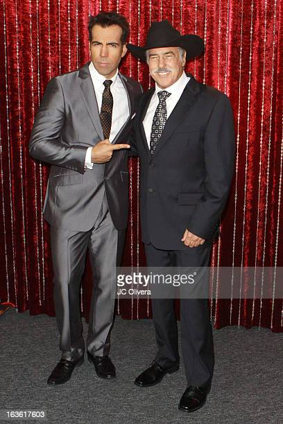 Personality Felipe Viel and Actor Andres Garcia attend Estrella TV's 'Mi Sueno Es Bailar' Season 4 News Conference on March 13 2013 in Burbank...
