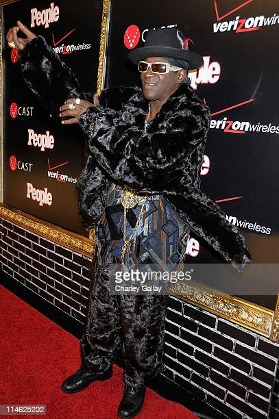 TV personality Flava Flav attends the Verizon Wireless and People Magazine party to honor Timbaland at