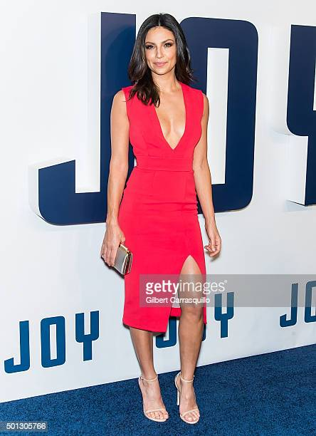 TV personality Floriana Lima attends the 'Joy' New York premiere at Ziegfeld Theater on December 13 2015 in New York City