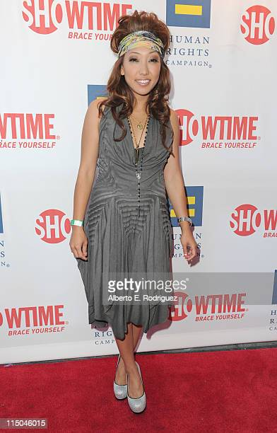 TV personality Francine Beppu arrives to the premiere of Showtime's 'The Real L Word' on June 1 2011 in West Hollywood California
