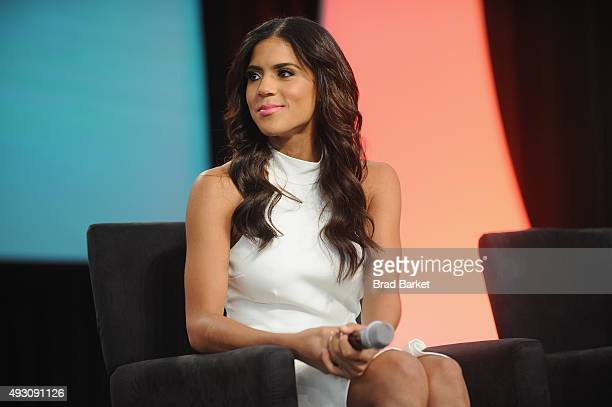 TV personality Francisca Lachapel speaks on stage at Festival PEOPLE En Espanol 2015 presented by Verizon at Jacob Javitz Center on October 17 2015...