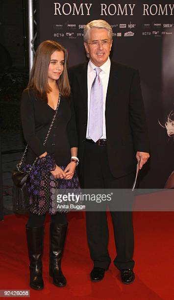 TV personality Frank Elstner and his daughter Lena attend the premiere of 'Romy' at the Delphi cinema on October 27 2009 in Berlin Germany