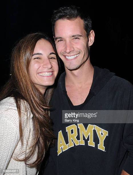 TV personality Frank Meli and his sister attend Knott's Scary Farm Halloween Haunt held at Knott's Berry Farm on October 28 2010 in Buena Park...