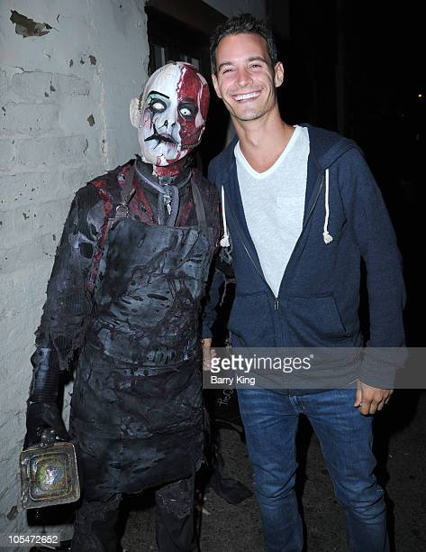 TV personality Frank Meli attend Knott's Scary Farm on October 14 2010 in Buena Park California