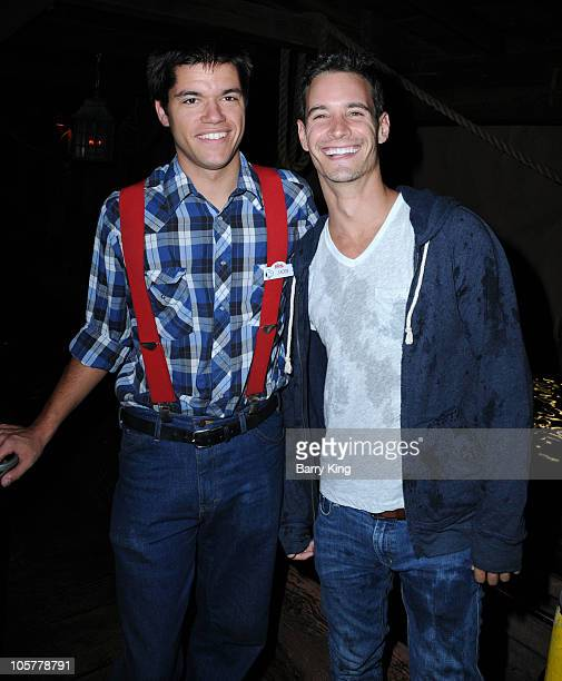 TV personality Frank Meli attends Knott's Scary Farm on October 14 2010 in Buena Park California