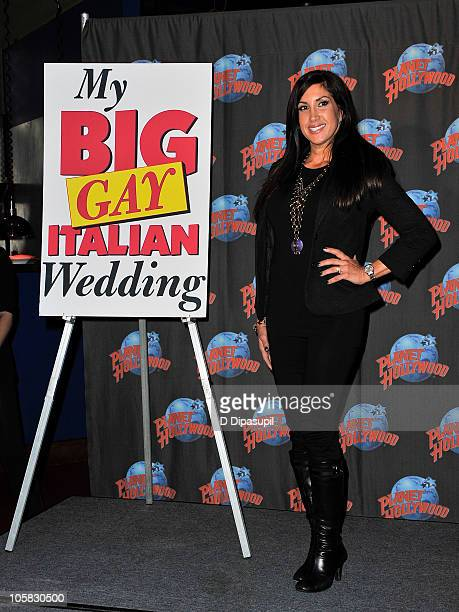 TV personality from 'The Real Housewives Of New Jersey' Jacqueline Laurita promotes the offBroadway comedy 'My Big Gay Italian Wedding' at Planet...