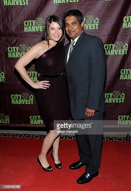 TV personality Gail Simmons and Floyd Cardoz attend City Harvest's 18th Annual An Evening Of Practical Magic at Cipriani 42nd Street on April 24 2012...