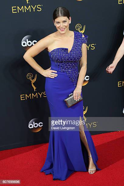 TV personality Gail Simmons arrives at the 68th Annual Primetime Emmy Awards at the Microsoft Theater on September 18 2016 in Los Angeles California