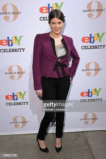 TV personality Gail Simmons attends eBay Celebrity and Brad Pitt's Make It Right Celebrate PopUp Gallery Exhibition at Chelsea Market on February 8...