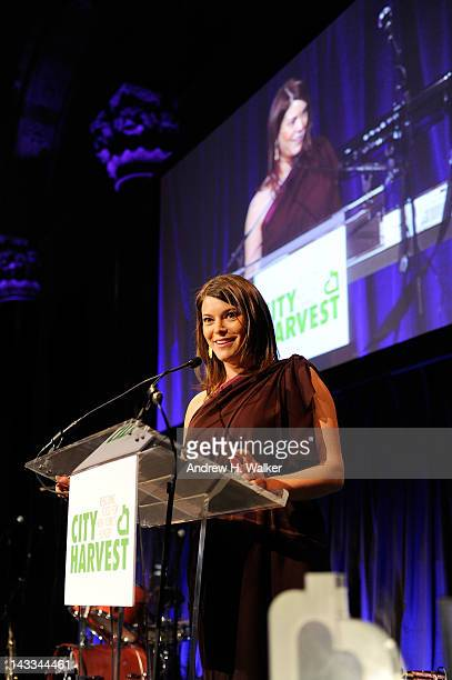 Personality Gail Simmons speaks at City Harvest's 18th Annual An Evening Of Practical Magic at Cipriani 42nd Street on April 24, 2012 in New York...