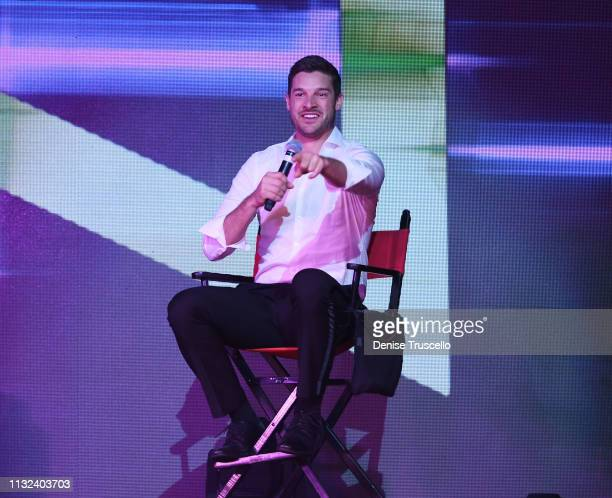 TV personality Garrett Yrigoyen performs in Chippendales Las Vegas at the Rio AllSuit Hotel and Casino on March 23 2019 in Las Vegas Nevada
