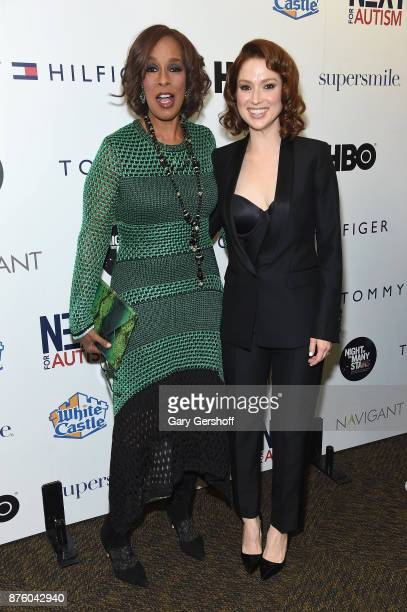 Personality Gayle King and actress Ellie Kemper attend HBO's Night Of Too Many Stars America Unites For Autism Programs at The Theater at Madison...