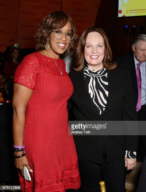 TV personality Gayle King and Ellen Corwin attend NewYorkPresbyterian Hospital's Amazing Kids Amazing Care dinner at Cipriani 25 Broadway on November...