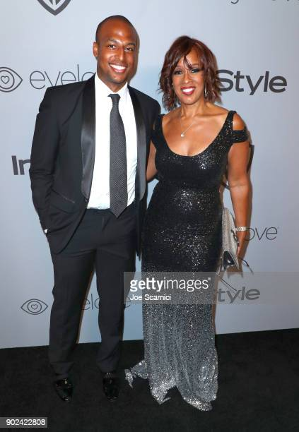 TV personality Gayle King and William Bumpus Jr attend the 2018 InStyle and Warner Bros 75th Annual Golden Globe Awards PostParty at The Beverly...