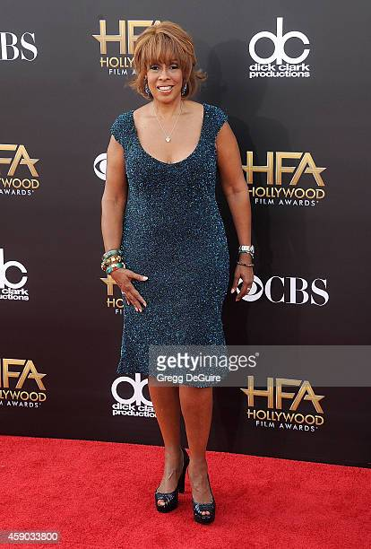 Personality Gayle King arrives at the 18th Annual Hollywood Film Awards at The Palladium on November 14, 2014 in Hollywood, California.