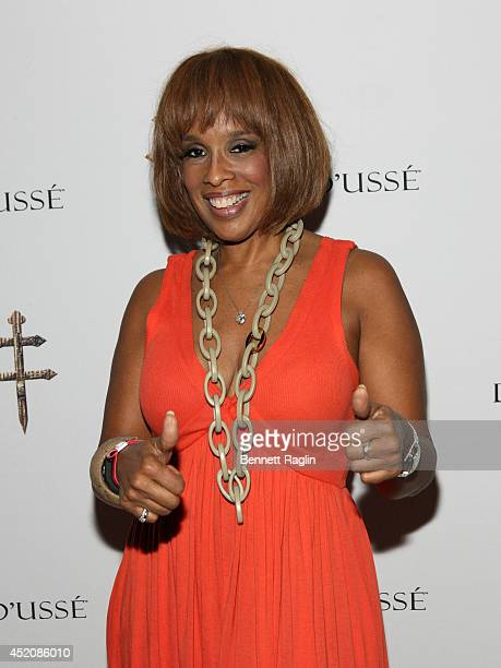 TV personality Gayle King attends D'USSE VIP Riser Lounge At On The Run Tour MetLife Stadium on July 12 2014 in East Rutherford City