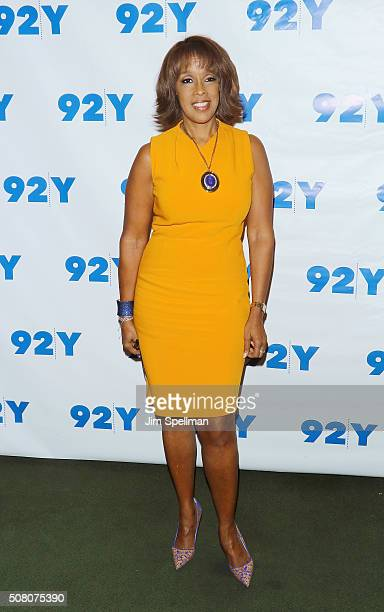 TV personality Gayle King attends L A Reid in conversation with Gayle King with special guest Meghan Trainor at 92Y on February 2 2016 in New York...