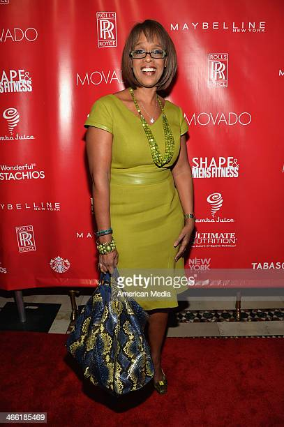 Personality Gayle King attends SHAPE Men's Fitness Kickoff Party at Cipriani 42nd Street on January 31 2014 in New York City