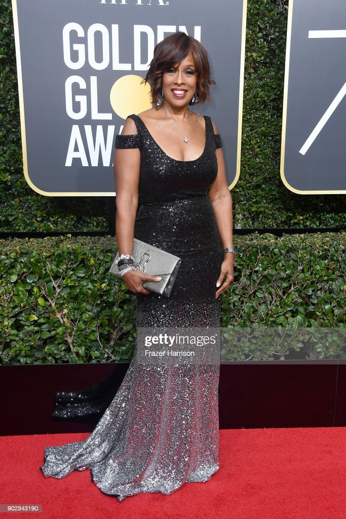 TV personality Gayle King attends The 75th Annual Golden Globe Awards at The Beverly Hilton Hotel on January 7, 2018 in Beverly Hills, California.