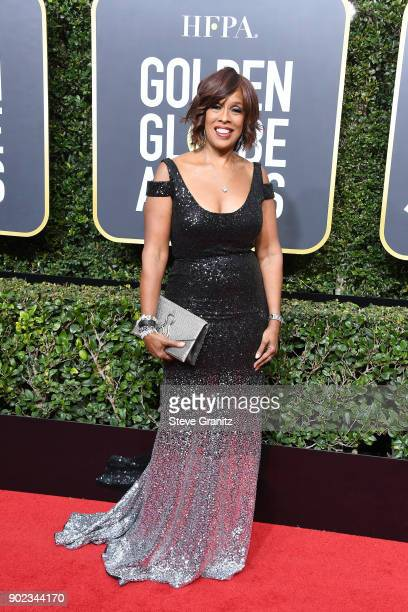 TV personality Gayle King attends The 75th Annual Golden Globe Awards at The Beverly Hilton Hotel on January 7 2018 in Beverly Hills California