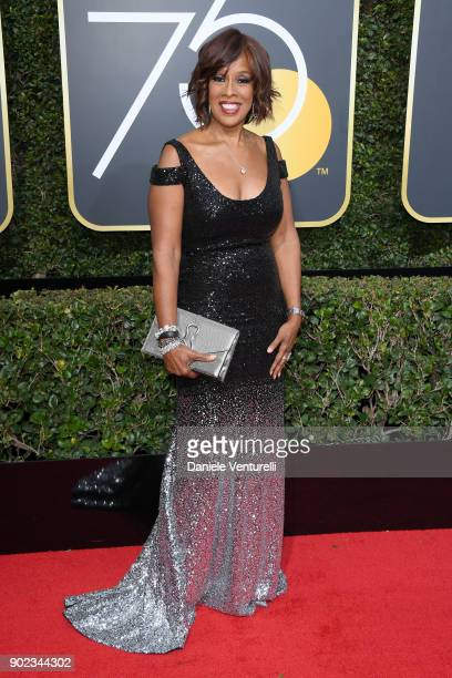 Personality Gayle King attends The 75th Annual Golden Globe Awards at The Beverly Hilton Hotel on January 7 2018 in Beverly Hills California