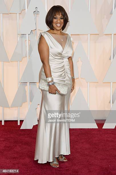 TV personality Gayle King attends the 87th Annual Academy Awards at Hollywood Highland Center on February 22 2015 in Hollywood California