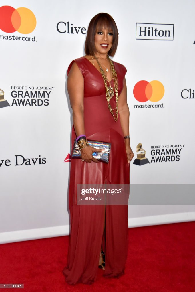 TV personality Gayle King attends the Clive Davis and Recording Academy Pre-GRAMMY Gala and GRAMMY Salute to Industry Icons Honoring Jay-Z on January 27, 2018 in New York City.