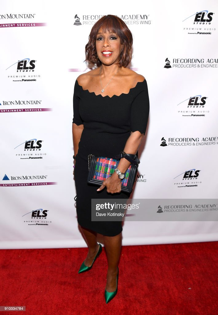TV personality Gayle King attends the Producers and Engineers Wing 11th Annual GRAMMY Week Event Honoring Swizz Beatz And Alicia Keys at The Rainbow Room on January 25, 2018 in New York City.