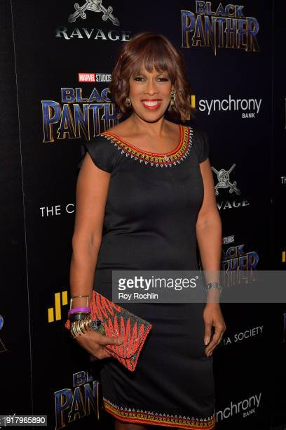 TV personality Gayle King attends the screening of Marvel Studios' Black Panther hosted by The Cinema Society on February 13 2018 in New York City