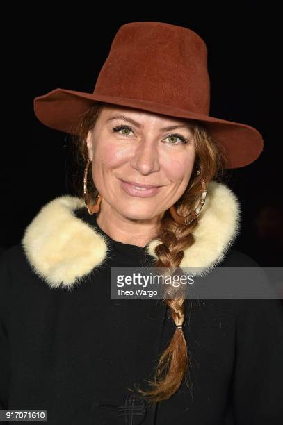TV personality Genevieve Gorder attends the Vivi Zubedi front row during New York Fashion Week The Shows at Industria Studios on February 11 2018 in...