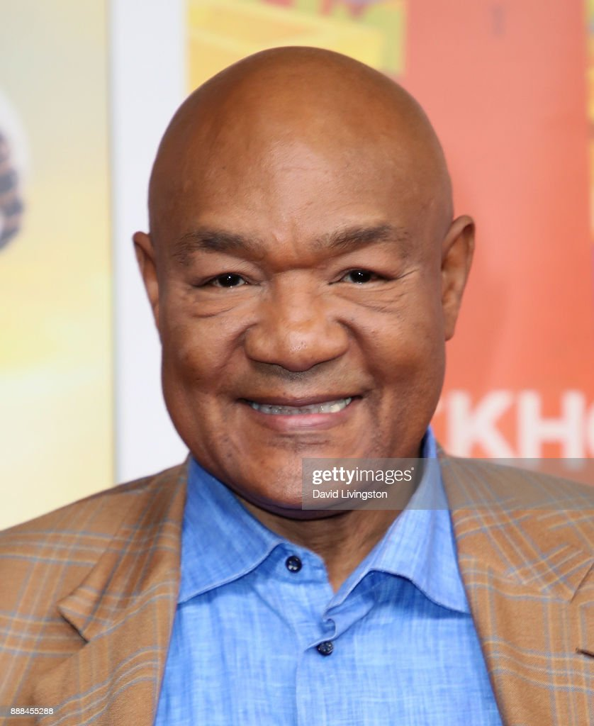 TV personality George Foreman attends the premiere of NBC's 'Better Late Than Never' at Universal Studios Hollywood on November 29, 2017 in Universal City, California.