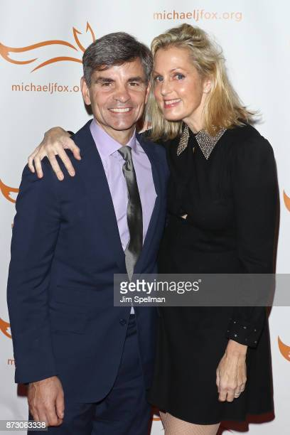 TV personality George Stephanopoulos and actress Ali Wentworth attend the 2017 A Funny Thing Happened on the Way to Cure Parkinson's event at the...