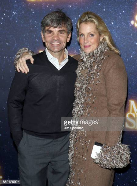 TV personality George Stephanopoulos and actress Ali Wentworth attend the 'Meteor Shower' Broadway opening night at the Booth Theatre on November 29...