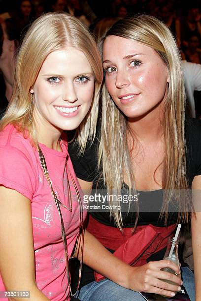 TV personality Georgia Sinclair and a friend attend L'Oreal Paris Runway 3 as part of L'Oreal Melbourne Fashion Festival 2007 at the Fashion Cube...