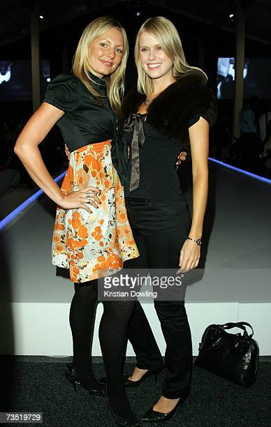 TV personality Georgia Sinclair and Gemma Gawned attend L'Oreal Paris Runway 6 show on the fourth day of the L'Oreal Melbourne Fashion Festival 2007...