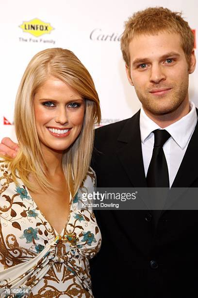 Personality Georgia Sinclair and her partner arrive for the 2007 Red Ball fundraising event for the Bone Marrow Donor Institute at Peninsula on...