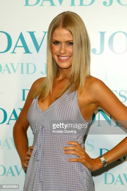 Personality Georgia Sinclair arrives for the David Jones Winter 2008 Collection Launch 'A Japanese Story' at the Melbourne Town Hall on February 27...