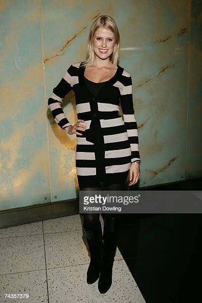 Personality Georgia Sinclair arrives for the Melbourne premiere of 'Respect A Musical Journey Of Women' at the Palms at Crown May 30 2007 in...