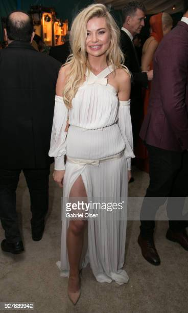 Personality Georgia Toffolo attends the Treats annual Oscars party at the private residence of Jonas Tahlin CEO of Absolut Elyx on March 4 2018 in...