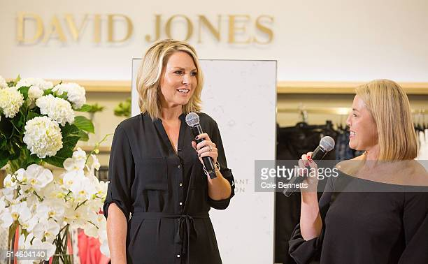 Personality Georgie Gardner and Sophie of David Jones speak about the new seasons styles on stage during the David Jones Classic Collection Launch at...