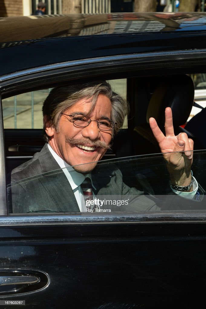 TV personality Geraldo Rivera leaves the 'Live With Kelly And Michael' taping at the ABC Lincoln Center Studios on April 26, 2013 in New York City.