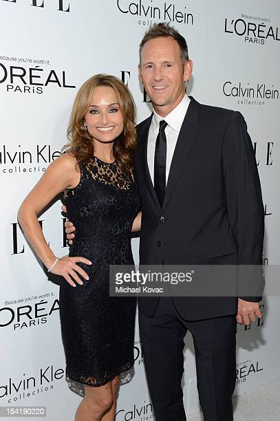 Personality Giada De Laurentiis and Todd Thompson arrive at ELLE's 19th Annual Women In Hollywood Celebration at the Four Seasons Hotel on October...