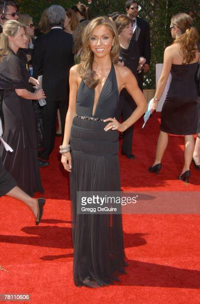 Personality Giuliana DePandi arrives at the 59th Annual Primetime Emmy Awards at the Shrine Auditorium on September 16 2007 in Los Angeles California