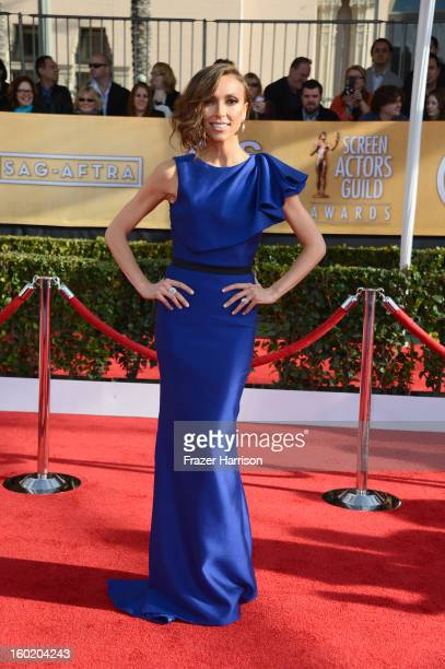 TV personality Giuliana Rancic arrives at the 19th Annual Screen Actors Guild Awards held at The Shrine Auditorium on January 27 2013 in Los Angeles...
